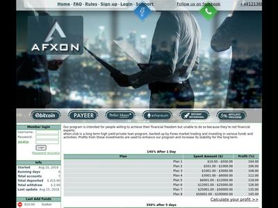 [SCAM] AFX ON - afxon.club - RCB 80% - 104% Depues 1 Dia - Min 10$ Afxon.club