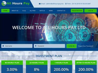 Allhourspay - [SCAM] allhourspay.biz - Min 5$ (Hourly For 96 Hours) RCB 80% Allhourspay.biz