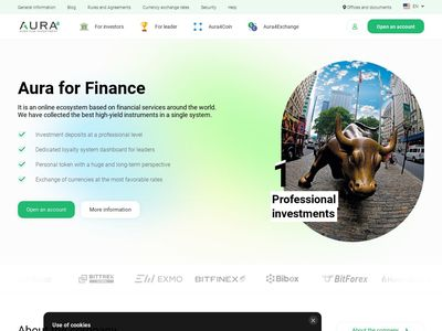 [PAGANDO] aura4.finance - Min 10$ ( 3% - 4.4% daily) RCB 80% Aura4.finance