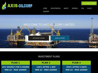 [SCAM] AXIS OIL CORP - axis-oilcorp.me - RCB 80$ - Hourly por 8 horas - Min 3$ Axis-oilcorp.me