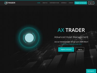 [PAYING] axtrader.com - Min 10$ (3.00% Daily for 30 days) RCB 80% Axtrader.com