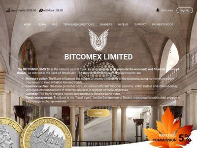 [PAGANDO] bitcomex.biz - Min 1$ (Hourly for 45 hours) RCB 80% Bitcomex.biz
