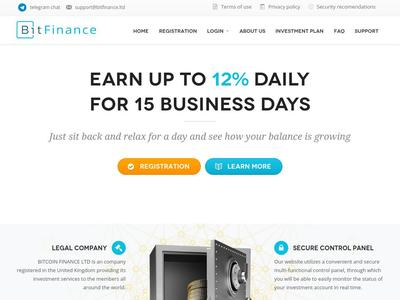 [SCAM] BIT FINANCE - bitfinance.ltd - RCB 80% - 10%-12% daily for 15 dias - Min 10$ Bitfinance.ltd