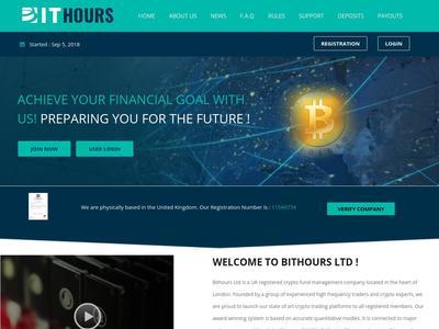 [SCAM] BIT HOURS - bithours.pro - RCB 80% - hourly por 70 horas - Min 5$ Bithours.pro