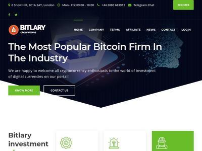 [SCAM] bitlary.com - Min 10$ (HOURLY FOREVER) RCB 80% Bitlary.com