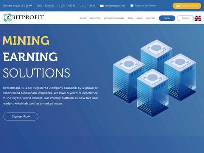 [SCAM] BIT PROFITS - bitprofits.biz - RCB 80% - Hourly por 10 Horas - Min 1$ Bitprofits.biz