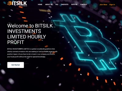 [PAYING] bitsilk.investments - Min 10$ (Hourly For 6 Hours) RCB 80% Bitsilk.investments