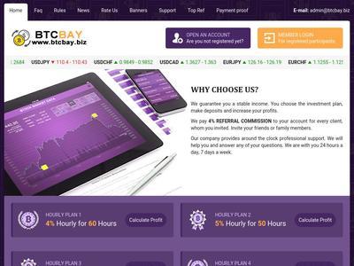 [SCAM] btcbay.biz - Min 3$ (Hourly For 60 Hours) RCB 80% Btcbay.biz
