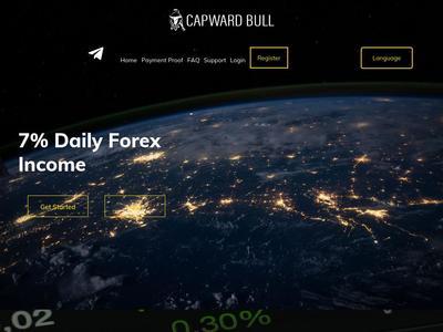 [PAYING] capwardbull.com - Min 10$ (daily for 24 days) RCB 80% Capwardbull.com