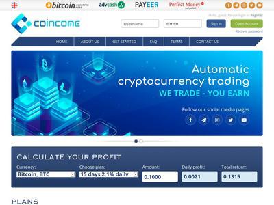 [SCAM] COINCOME - coincome.info - Refback 80% - 2.1% diario durante 15 días - Entrada 10$ Coincome.info