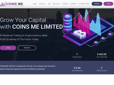 [PAYING] [DELETE ACCOUNTS] coinsme.biz - Min 1$ (Hourly For 48 Hours) RCB 80% Coinsme.biz