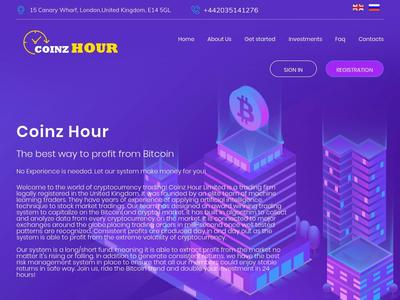 [SCAM] coinzhour.info - Min 5$ (Hourly For 80 Hours) RCB 80% Coinzhour.info
