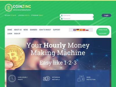 [SCAM] coinzinc.com - Min 5$ (Hourly for 72 hours) RCB 80%  Coinzinc.com