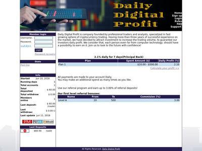 [SCAM] DAILY DP - dailydp.com - RCB 80% - 2.1% daily for 7 days(Principal Back) - Min 10$ Dailydp.com