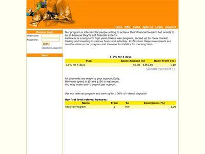 [PAGANDO] dantex.cc - Min 5$ (1.10% Daily for 5 days) RCB 80% Dantex.cc
