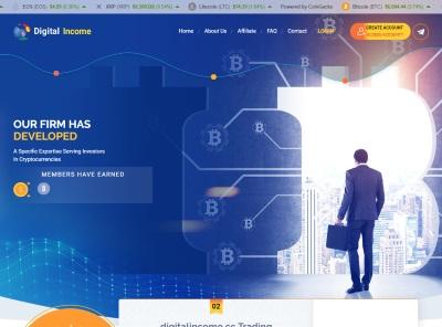 [SCAM] digitalincome.cc - Min 1$ (hourly for 24 hours) RCB 80% Digitalincome.cc