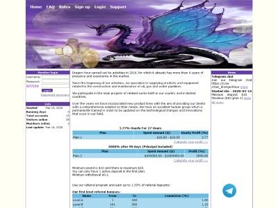 [PAYING] drangon-hour.com - Min 10$ (Hourly for 27 Hours) RCB 80% Drangon-hour.com