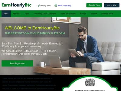 [SCAM] earnhourlybtc.biz - Min 1$ (Hourly For 38 Hours) RCB 80% Earnhourlybtc.biz