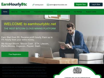 [SCAM] earnhourlybtc.net - MIn 5$ (Hourly For 96 Hours) RCB 80% Earnhourlybtc.net