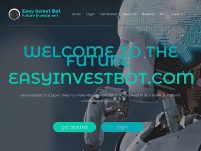 [SCAM] easyinvestbot.com - Min 1$ (Hourly For 6 Hours) RCB 80% Easyinvestbot.com