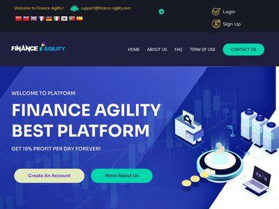 [PAGANDO] finance-agility.com - Min 10$ (10.00% Daily Forever) RCB 80% Finance-agility.com