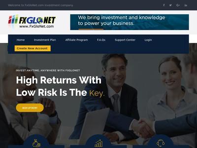 [PAGANDO] fxglonet.com - Min 10$ (Daily Profit For 10 Business Days) RCB 80% Fxglonet.com