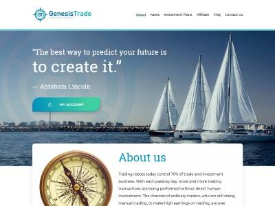 [PAYING] genesistrade.fund - Min 1$ (12% - 25% Weekly) RCB 80% Genesistrade.fund