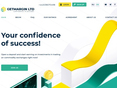 [PAYING] getmargin.biz - Min 10$ (2,2%- 6% Daily for 30 Days) RCB 80% Getmargin.biz