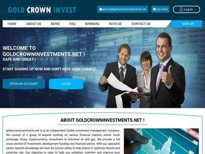 [SCAM] goldcrowninvestments.net - Min 3$ (After 1 Day) RCB 80% Goldcrowninvestments.net