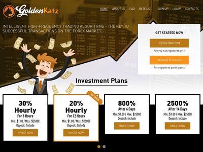 [SCAM] goldenkatz.com - Min 1$ (Hourly For 6 Hours) RCB 80% Goldenkatz.com