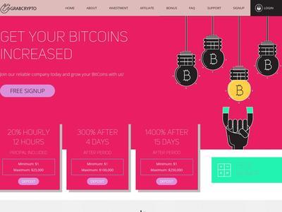 [SCAM] GRAB CRYPTO - grabcrypto.biz - RCB 80% - Hourly por 12 horas - Min 1$ Grabcrypto.biz