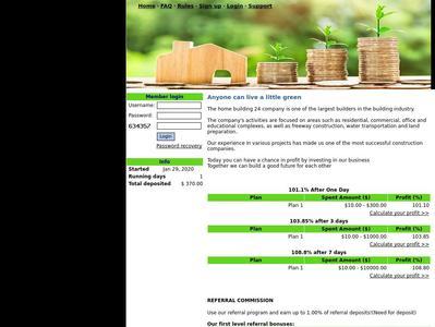 [SCAM] homebuilding24.com - Min 10$ (After 1 Day) RCB 80% Homebuilding24.com