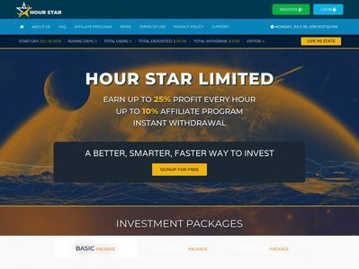 [PAYING] hour-star.com - Min 10$ (Hourly for 4 days) RCB 80% Hour-star.com