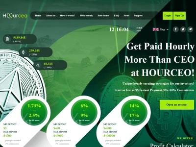 [PAYING] hourceo.com - Min 5$ (Hourly For 60 Hours) RCB 80% Hourceo.com