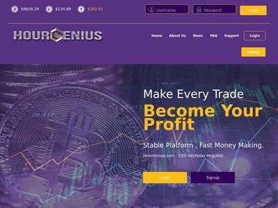 [SCAM] hourgenius.com - Min 10$ (Hourly For 96 Hours) RCB 80% Hourgenius.com