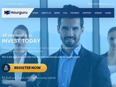 [PAYING] hourguru.com - Min 10$ (Hourly For 96 Hours) RCB 80% Hourguru.com