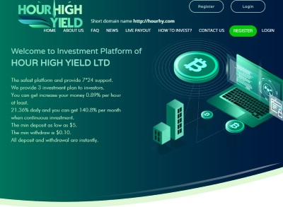[PAYING] hourhighyield.com - Min 5$ (Hourly For 120 Hours) RCB 80% Hourhighyield.com