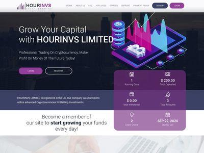 [PAGANDO] hourinvs.biz - min 1$ (Hourly For 42 Hours) RCB 80% Hourinvs.biz