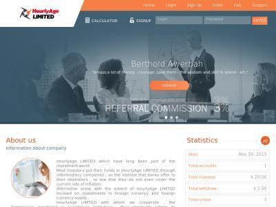 [SCAM] hourlyage.com - Min 10$ (hourly for 100 hours) RCB 80% Hourlyage.com
