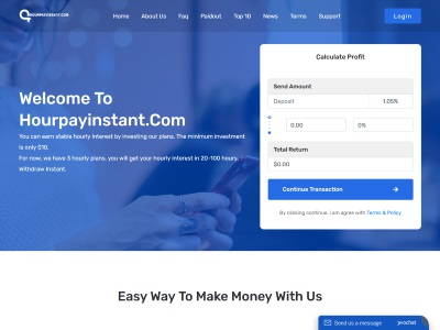 [PAYING] hourpayinstant.com - Min 10$ (hourly for 100 hours) RCB 80% Hourpayinstant.com