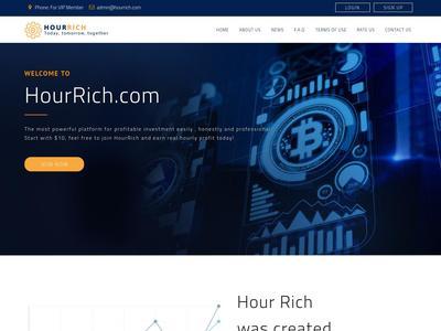 [PAGANDO] hourrich.com - Min 10$ (Hourly For 90 Hours) RCB 80% Hourrich.com