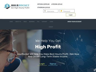 [SCAM] hourrocket.com - Min 5$ (Hourly For 86 Hours) RCB 80% Hourrocket.com