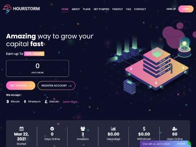 [SCAM] hourstorm.com - Min 10$ (hourly for 90 hours) RCB 80% Hourstorm.com