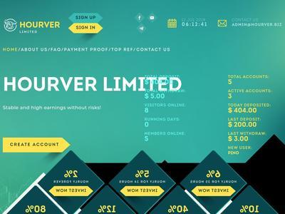 [PAGANDO] HOURVER - hourver.biz - RCB 80% - Hourly For 24 Hours - Min 1$ Hourver.biz