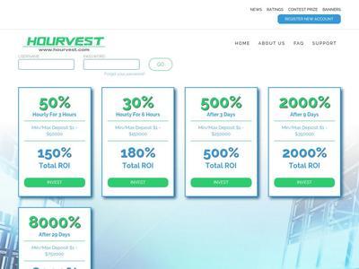 [SCAM] hourvest.com - Min 1$ (Hourly For 3 Hours) RCB 80% Hourvest.com