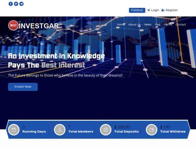 [SCAM] investgar.com - Min 1$ (Hourly For 10 Hours) RCB 80% Investgar.com