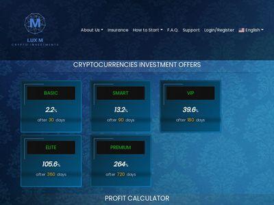 luxcripto.com screenshot