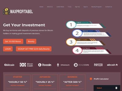 [SCAM] maxprofitabel.com - Min 1$ (Hourly For 3 Hours) RCB 80% Maxprofitabel.com