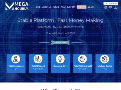 [SCAM] megahourly.com - Min 5$ (Hourly For 96 Hours) RCB 80% Megahourly.com