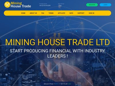 [PAYING] mininghouse.trade - MIn 10$ (Hourly for 48 hours) RCB 80% Mininghouse.trade